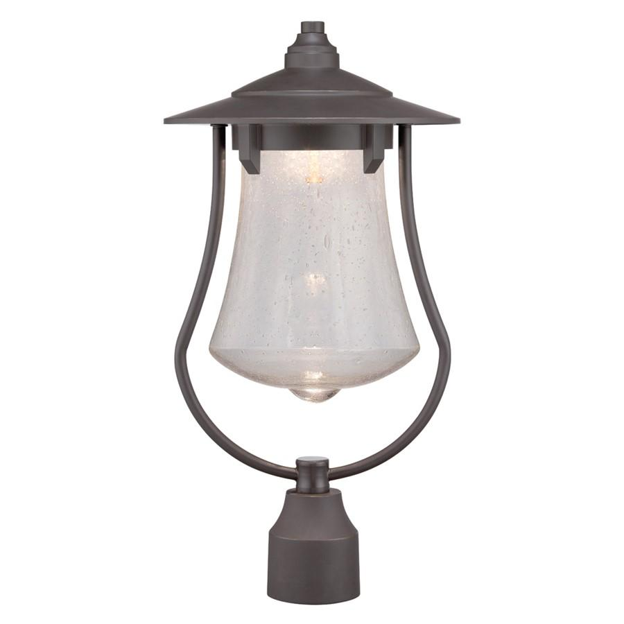 "Designers Fountain Paxton 10"" LED Post Lantern, Bronze Patina"