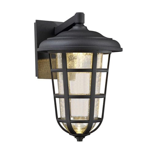 "Designers Fountain Triton 9"" LED Wall Lantern, Black"