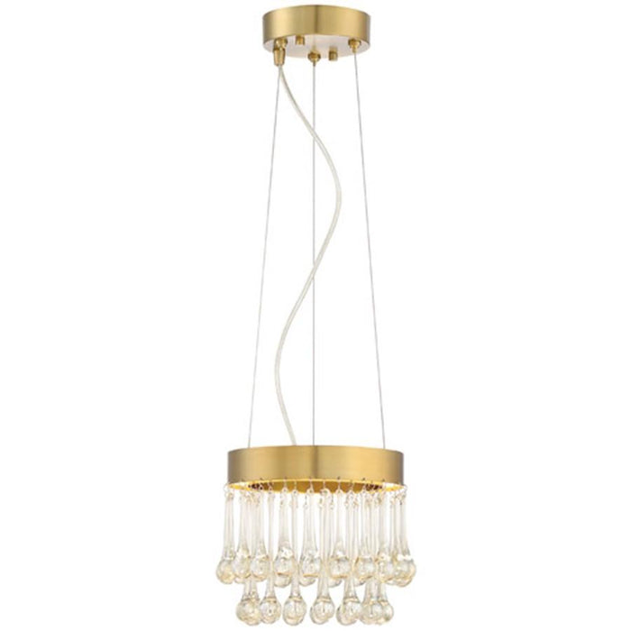 Designers Fountain Lucienne LED Pendant, Luxor Gold