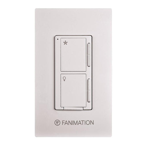 Fanimation Wall Control Fan 3 Speeds and Dimming Light, White