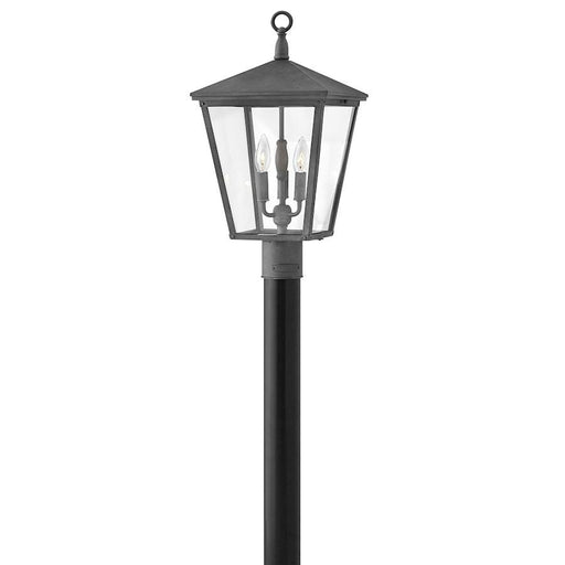 Hinkley Lighting 3 Light Trellis Outdoor Post Top/ Pier Mount, Aged Zinc