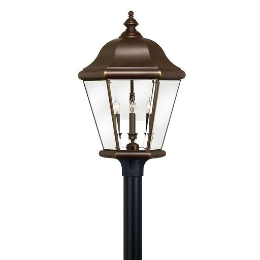 Hinkley Lighting Clifton Park 4 Light Outdoor Extra Lg Post Top, Copper Bronze