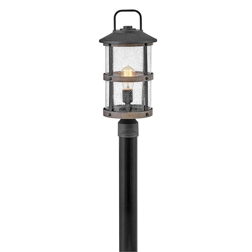 Hinkley Lighting 1 Light Lakehouse Outdoor Post Mount, Aged Zinc