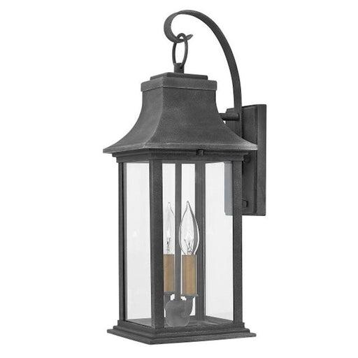 "Hinkley Lighting 20"" Adair 2 Light Outdoor Wall Mount, Aged Zinc"