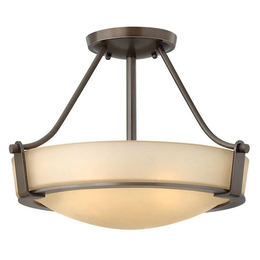 Hinkley Lighting Hathaway Foyer Semi-Flush Mount Light, Olde Bronze