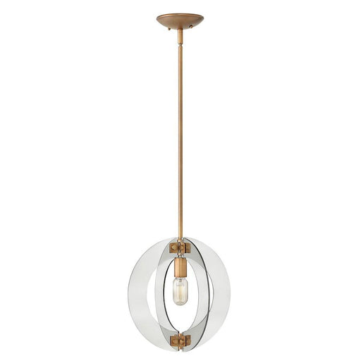 Fredrick Ramond 1 Light Solstice Pendant, Heirloom Brass