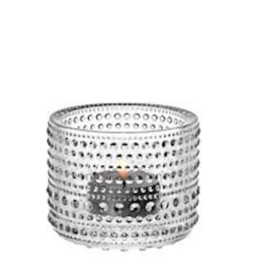 iittala Kastehelmi Tea Candle Holder in Clear