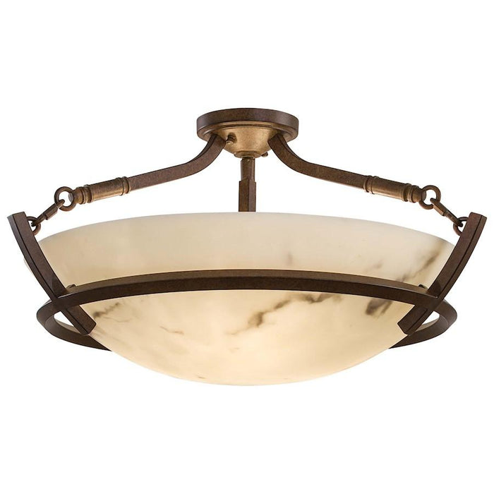 Minka Lavery Calavera 3 Light Semi Flush, Nutmeg