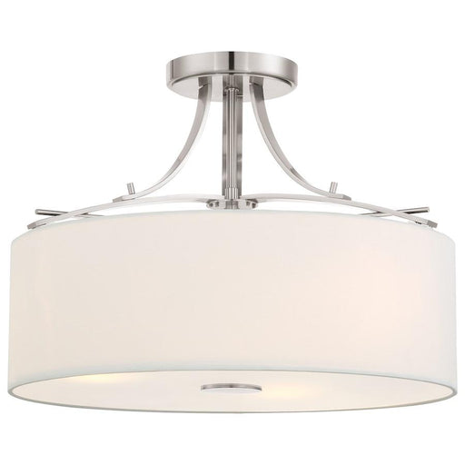 Minka Lavery Poleis 3 Light Semi Flush, Brushed Nickel