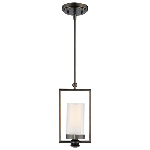 Minka Lavery Harvard Court 1 Light Mini Pendant, Bronze Plated