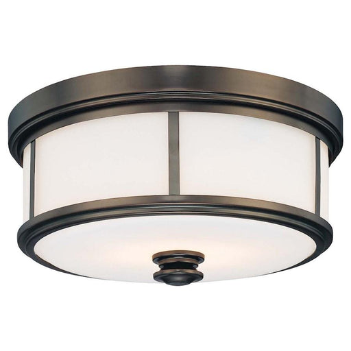 Minka Lavery Harvard Court 2 Light Flush Mount, Bronze Plated