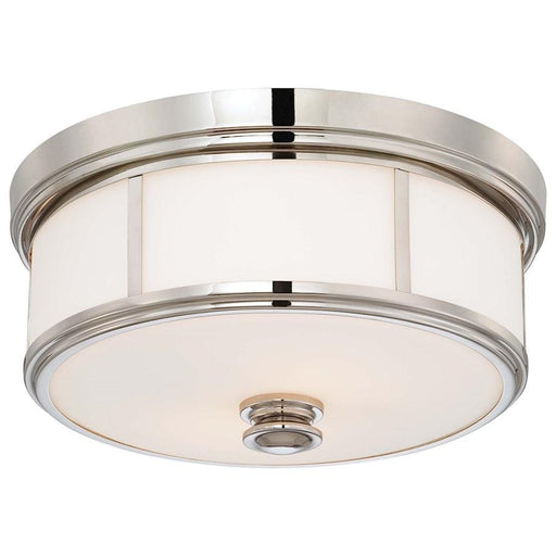 Minka Lavery 2 Light Flush Mount, Polished Nickel