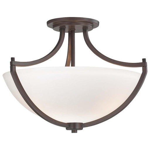 Minka Lavery Middlebrook 3 Light Semi Flush Mount, Vintage Bronze