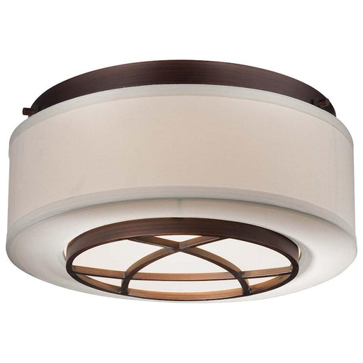 Minka Lavery City Club 2 Light Flush Mount, Dark Brushed Bronze