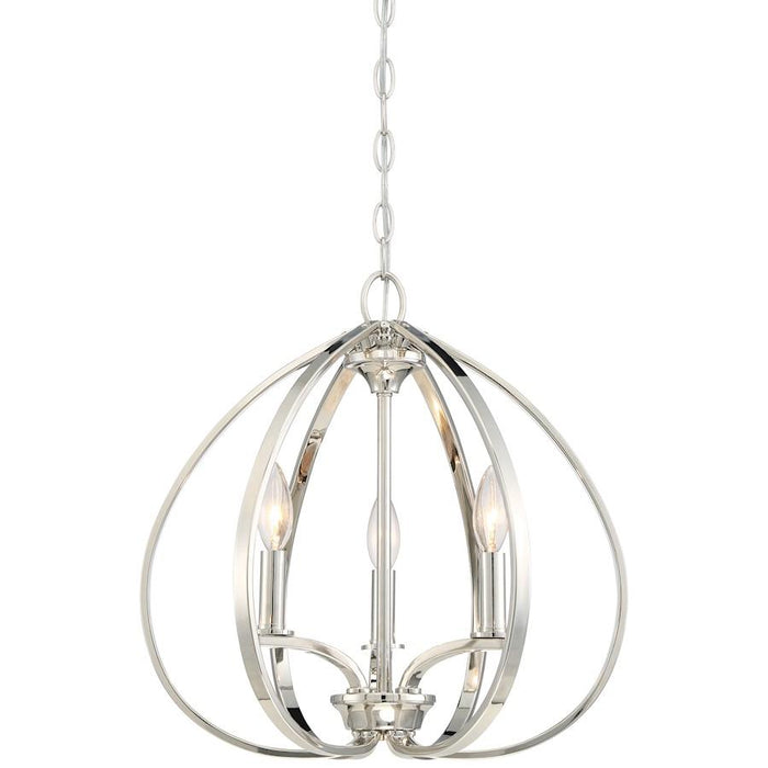 Minka Lavery Tilbury Pendant Polished Nickel