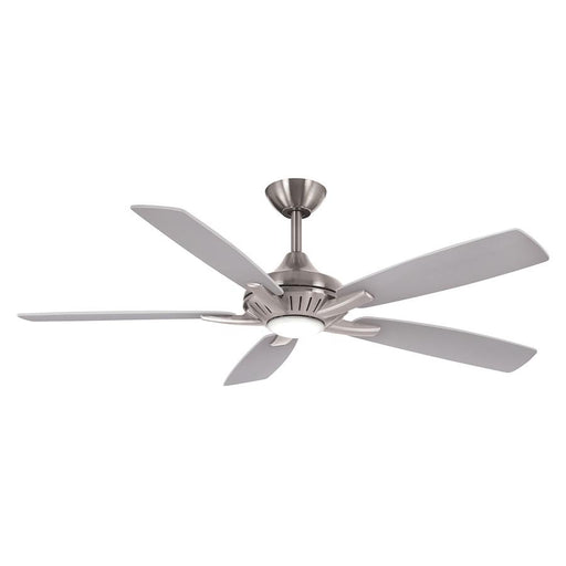 "Minka Aire Dyno LED 52"" Ceiling Fan, Brushed Nickel With Silver"