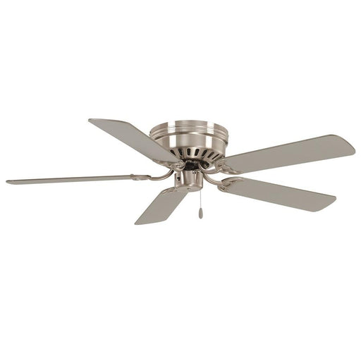 "Minka Aire Mesa 52"" Flush Mount Ceiling Fan, Brushed Nickel"