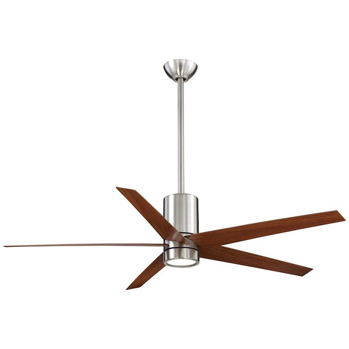"Minka Aire Symbio 56"" LED Ceiling Fan, Brushed Nickel"