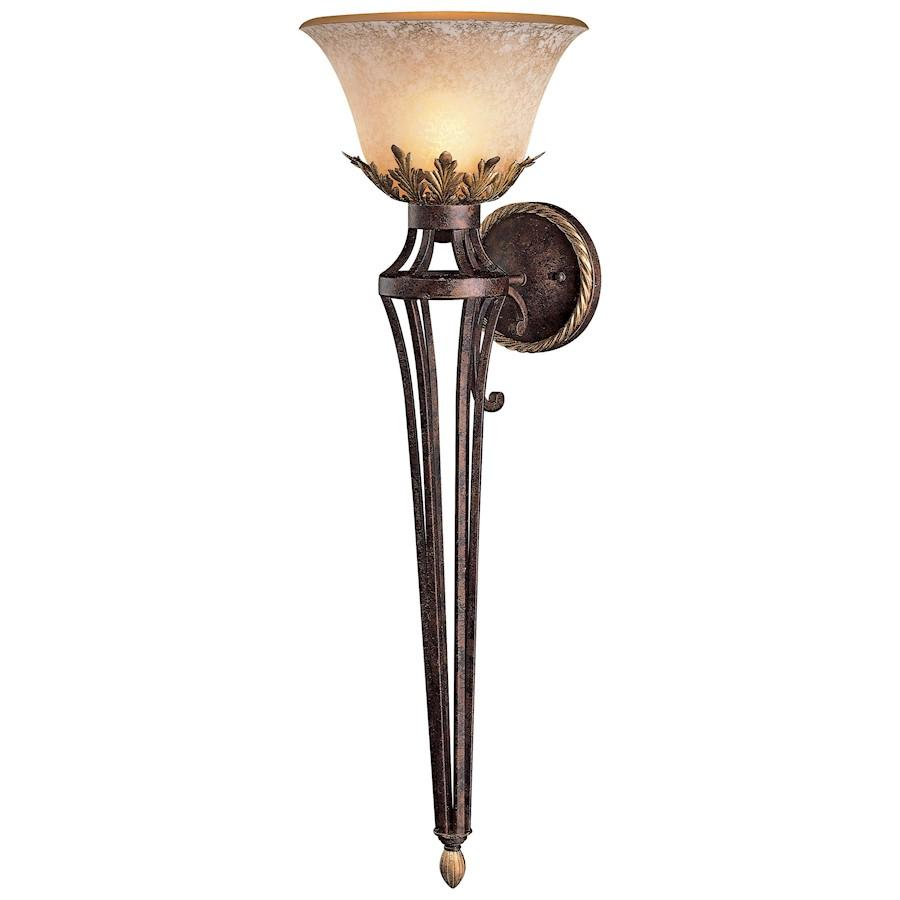 Minka Metropolitan Zaragoza 1 Light Wall Sconce, Golden Bronze
