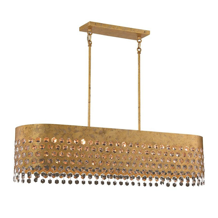 Minka Metropolitan Kingsmont 10 Light Island, Glitz Gold Leaf