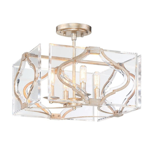Minka Metropolitan Brenton Cove 4 Light Semi Flush/Pendant, Gold