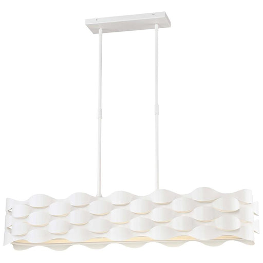 Minka George Kovacs Coastal Current LED Island, Sand White