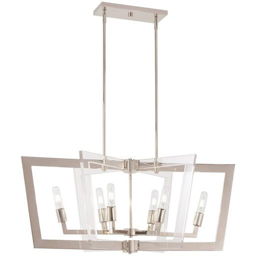 Minka George Kovacs Crystal Chrome 6 Light Island, Polished Nickel
