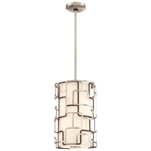 "George Kovacs Alecia's Tiers 15"" LED Pendant, Nickel/Bronze"