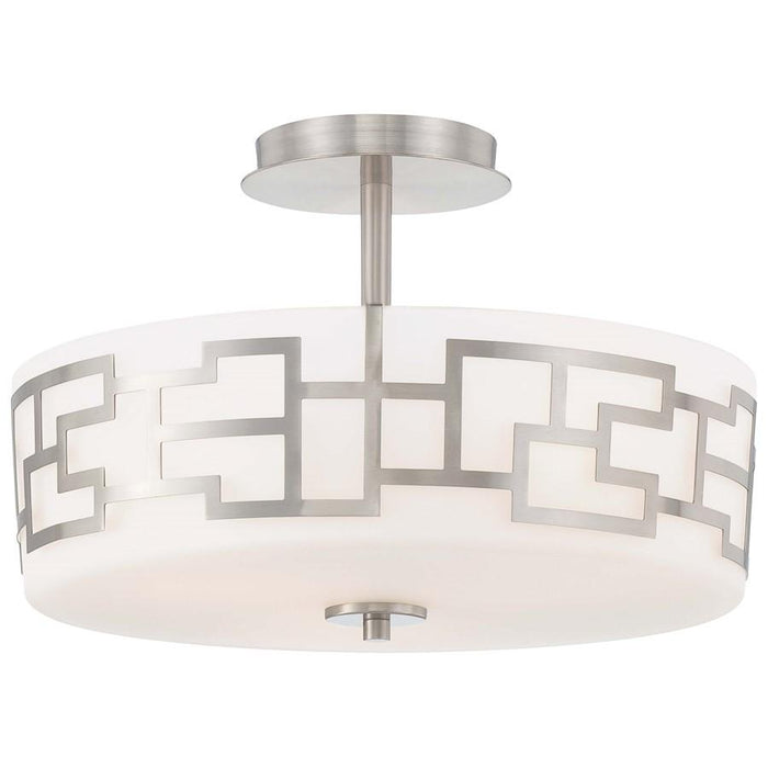 Minka George Kovacs Alecia's Necklace 3-LighT Semi Flush Mount, Nickel