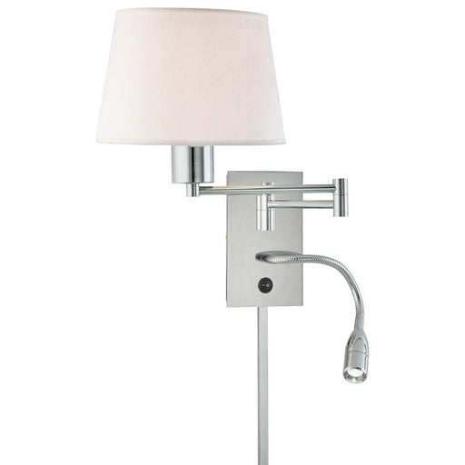 Minka George Kovacs 1-LT Swing Arm Wall Lamp/LED Reading Lamp, Chrome