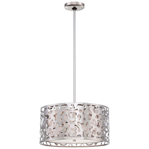 Minka George Kovacs Layover Drum Pendant, Chrome