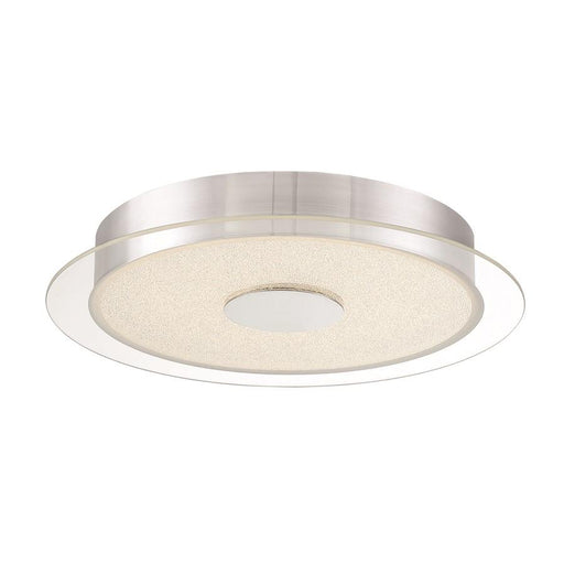 George Kovacs Diamond Dust LED Flush Mount, Chrome