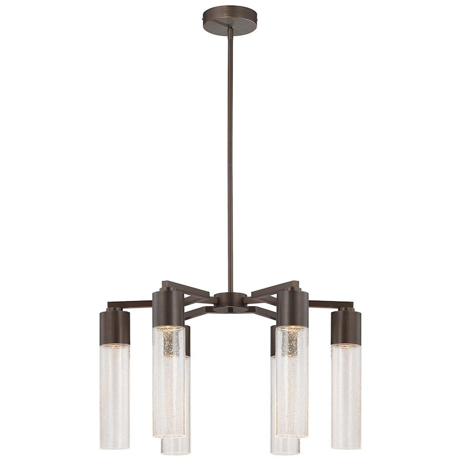 Minka George Kovacs-LT Rain 6-LT Chandelier, Copper Bronze Patina