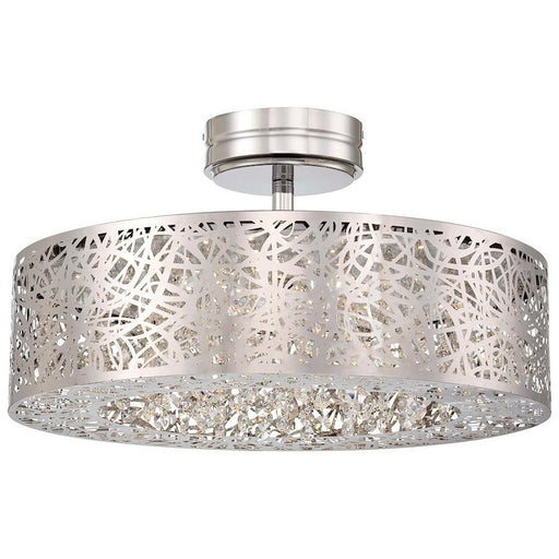 Minka George Kovacs Hidden Gems LED Semi Flush Mount, Chrome