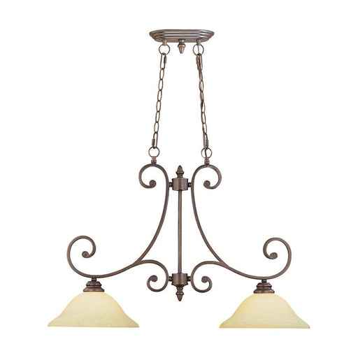 Millennium Lighting 2 Light Island Light, Rubbed Bronze