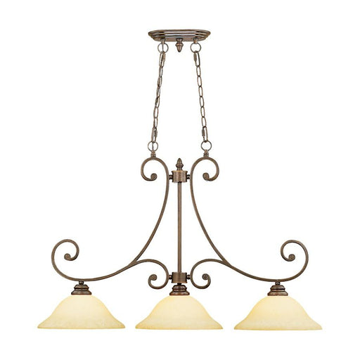 Millennium Lighting Oxford 3 Light Island Lighting, Rubbed Bronze
