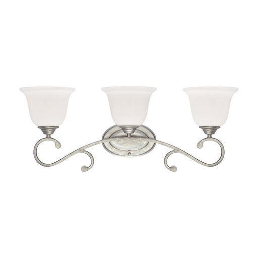 Millennium Lighting 3 Light Vanity, Rubbed Silver