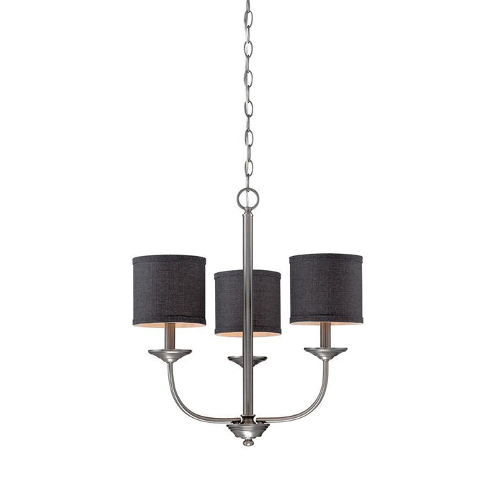 Millennium Lighting Jackson Chandelier Light, Brushed Pewter
