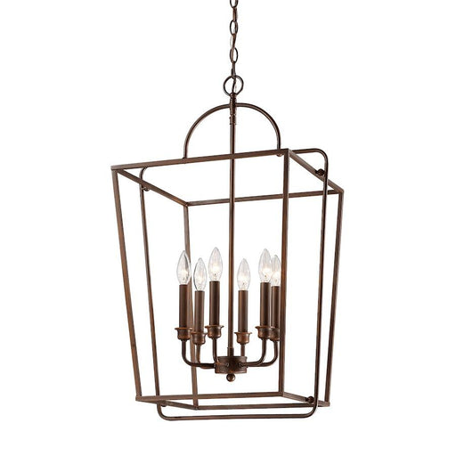 Millennium Lighting 6 Light Pendant, Rubbed Bronze