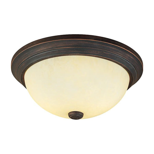 Millennium Lighting 3 Light Flushmount, Rubbed Bronze