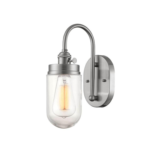 Millennium Lighting Neo-Industrial 1 Light Wall Sconce, Brushed Nickel