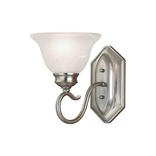 Millennium Lighting Devonshire 1 Light Wall Sconce, Satin Nickel