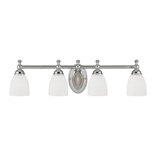 Millennium Lighting 4 Light Vanity, Chrome with Etched