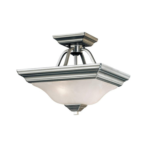 Millennium Lighting 2 Light Semi Flush Mount, Nickel