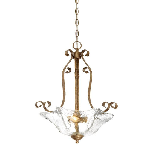 Millennium Lighting Chatsworth 3 Light Pendant, Vintage Gold