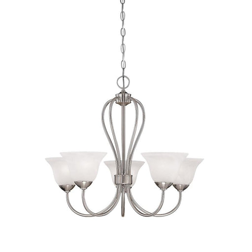 Millennium Lighting Main Street 5 Light Chandelier, Satin Nickel
