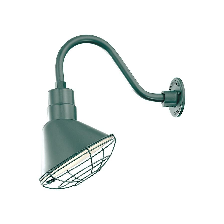 Millennium Lighting R Series 1 Light Angle Shade, Satin Green