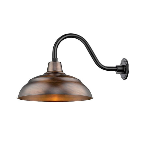 Millennium R Series 1 Light Warehouse Shade, Natural Copper, 9.25'