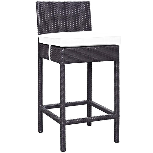 Modway Furniture Lift Outdoor Patio Bar Stool, Espresso White - EEI-1006-EXP-WHI