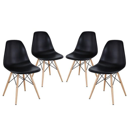 Modway Furniture Pyramid Dining Side Chairs Set of 4, Black - EEI-1316-BLK